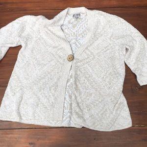 JM collection knit cardigan w/ button sz Xl